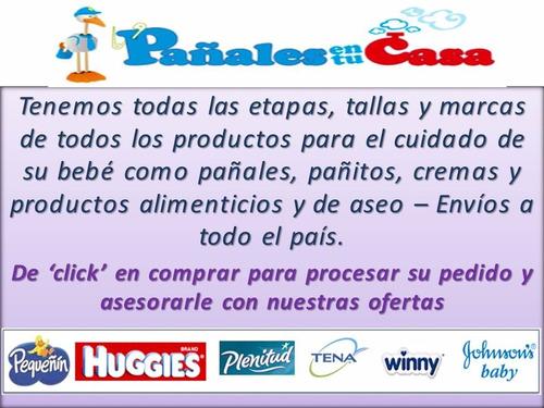 pañales huggies natural care etapa 4 niño /  xg 216 unidades