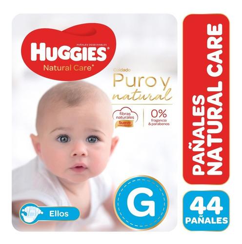 pañales huggies natural care puro y natural ellos m g xg xxg