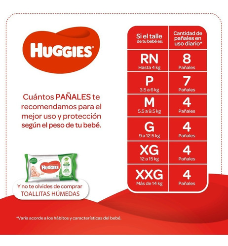 pañales huggies natural care puro y natural p  x 34 unisex