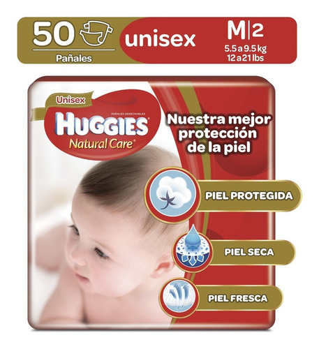 pañales huggies natural care unise - unidad a $658