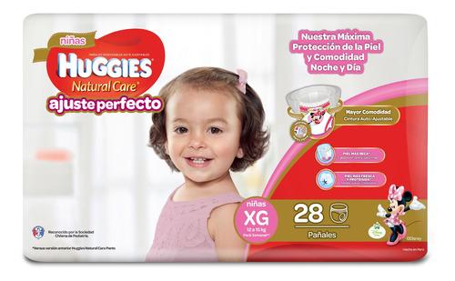 pañales huggies pant natural care niña 28 un. talla xg