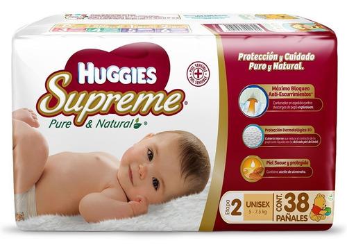 pañales huggies supreme etapa 2 con 228 piezas