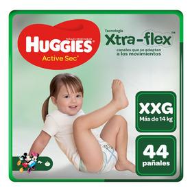 Pañales Huggies Xtraflex Active Sec Talla Xxg 44 Unid