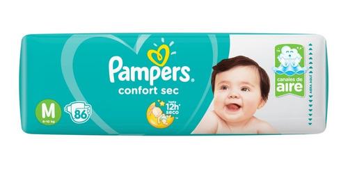 pañales pampers confort sec pack mensual en todos los talles