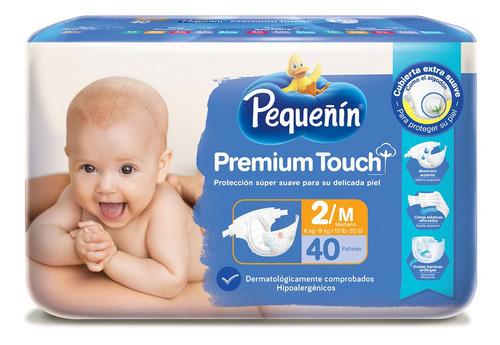 pañales pequeñin premium touch etapa 2 x 40und