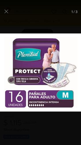 pañales protec plus  x16 unidades medianos 70-110cm.