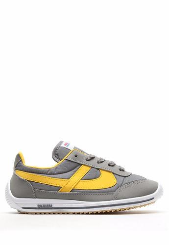 panam tenis gris / amarillo jogger retro vintage 010051 1032