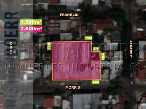 panam y gral paz - planta de 2600m cub s/1.500m de terreno