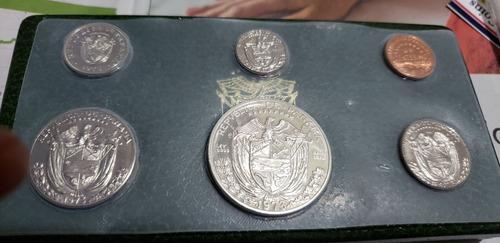 panamá 1973 proof set 6 monedas