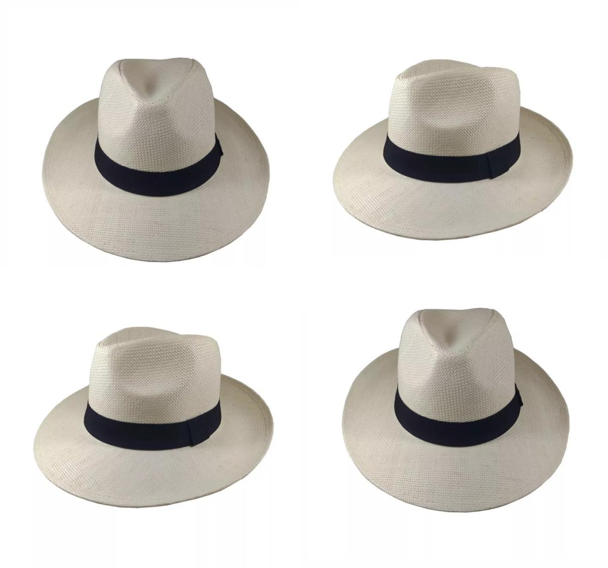 Chapéu Moda Panamá Aba Larga Clássico Masculino Feminino - R  25 65d7a2ac882