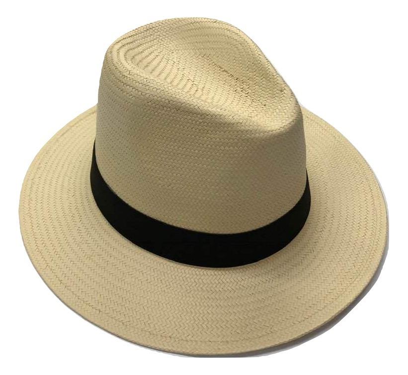 366b7d68f60df Chapéu Moda Panamá Aba Larga Masculino Feminino Praia Casual - R  59 ...