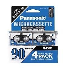 panasonic 90min 4 pack microcassette tape