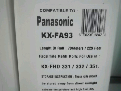panasonic film fax modelo kx-fdh 331/332/352