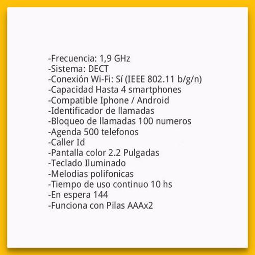 panasonic kx-prw110 telefono inalambrico wifi ios/ android
