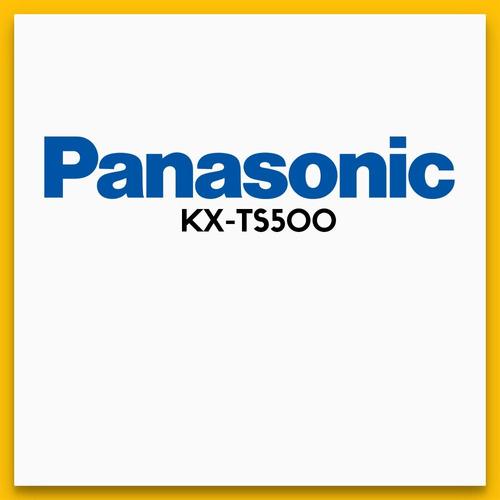 panasonic kx-ts500 telefono c/ cable, ideal hogar oficinas!