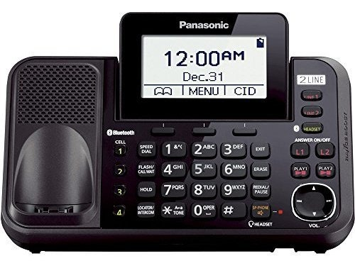 Panasonic KX-TG9541B Link2Cell Bluetooth Enabled 2-Line Phone with Answering Mac