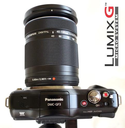 panasonic lumix dmc gf3 12.1 lente 40-150mm nueva a estrenar