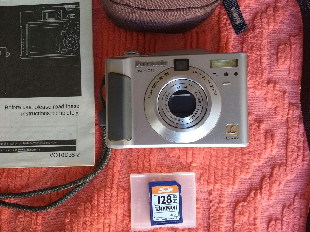 Panasonic lumix dmc-lc33 3. 2mp digital camera w/ 3x optical zoom.