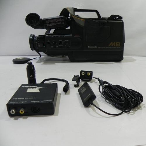 panasonic m8 vhs movie com maleta/acessórios (no estado)