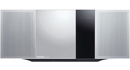 panasonic micro home audio sound system sc-hc39 (plata metal