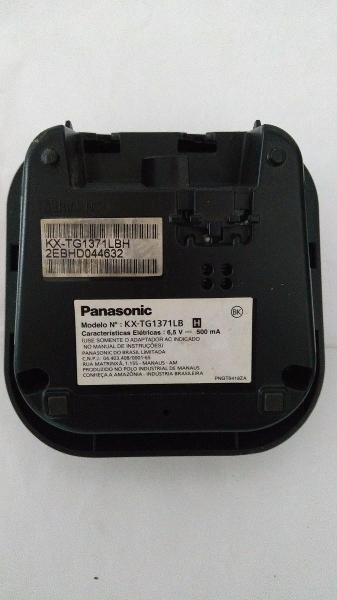 base carregador panasonic telefone sem fio kx tg1371lb r 34 99 em rh produto mercadolivre com br Panasonic Kx Cordless Phone Manual Panasonic Kx Phone Manual