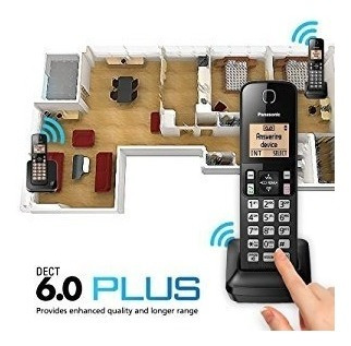 panasonic teléfono inalámbrico kx-tgc352b 2 telef. dect 6.0