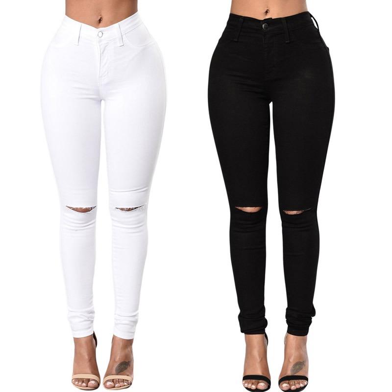 tienda de liquidación b81bb 49733 Panatalon Jeans Chupin Tiro Alto Mujer De Moda Verano 2018