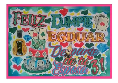 pancartas decoradas personalizadas de pintura al frio