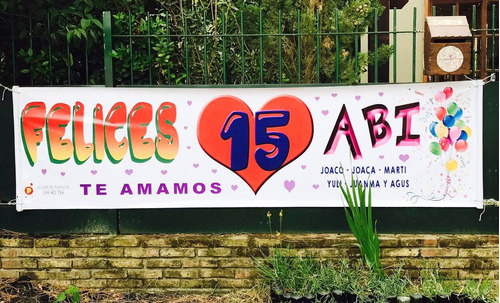 pancartas: la casa del pasacalle - 2 mts