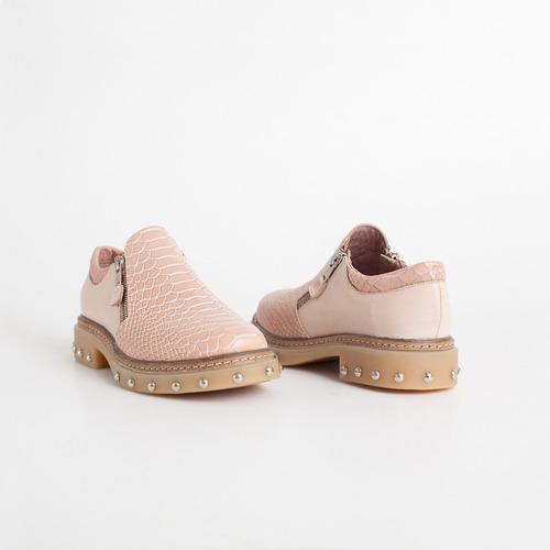 pancha de cuero. art caminito rosa. otro calzado