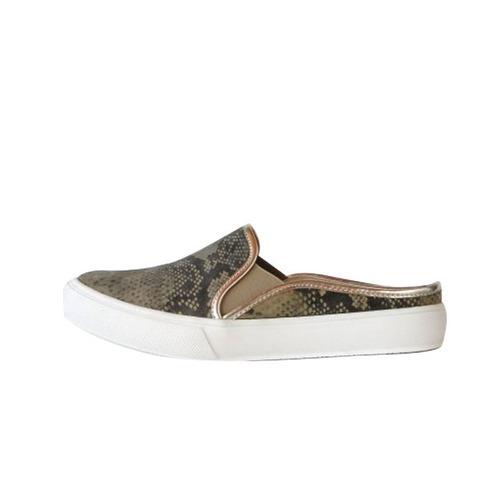 panchas alpargatas zapatos suecos sin talon cuero de mujer