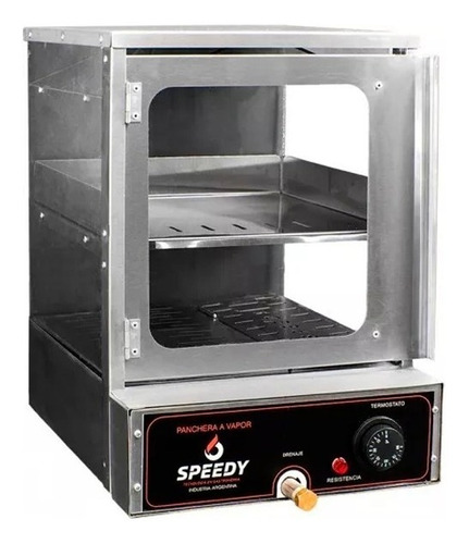panchera a vapor con calienta pan speedy grill 30 salchichas