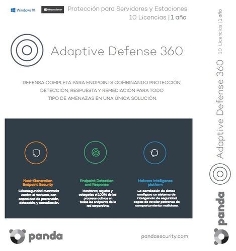 panda adaptive defense 360 - suscripción 1 año