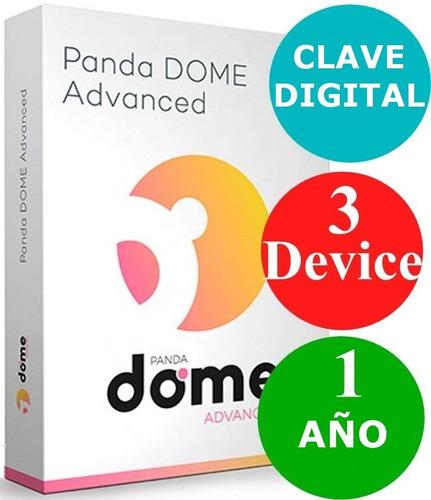 panda dome advanced - suscripcion 1 año - 3 equipos