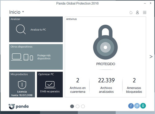 panda global protection 2016 licencia 3 pc multidispositivos