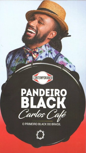 pandeiro contemporânea 10polegadas  black carlos café + capa