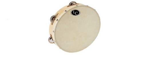 pandereta 25 lc latin custom sonajas parche d cuero lcp25