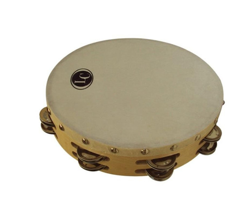 pandereta 25cm lc latin custom c/sonajas doble lcppr25
