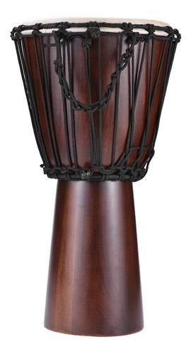pandero africano profesional de madera y zalea