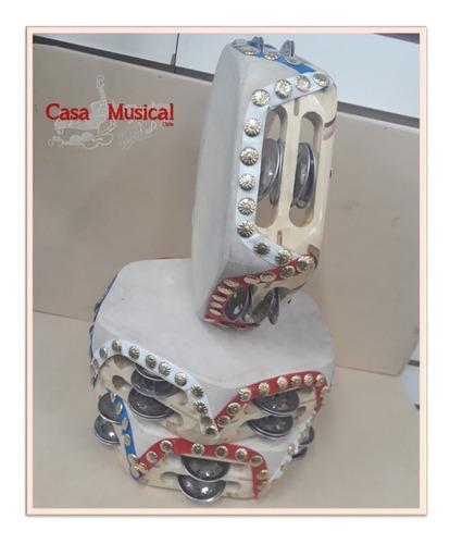 pandero cuequero profesional doble -  fabricación nacional