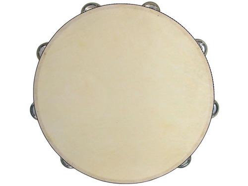 pandero jimbao knight jb912h de 12 pulgadas 30 cm 16 pares de sonajas en 2 hileras parche de cuero sintetico
