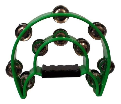 pandero medialuna doble color verde