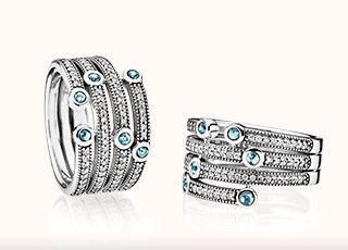 pandora anillo oceano,original, plata 925 circonitas cubicas