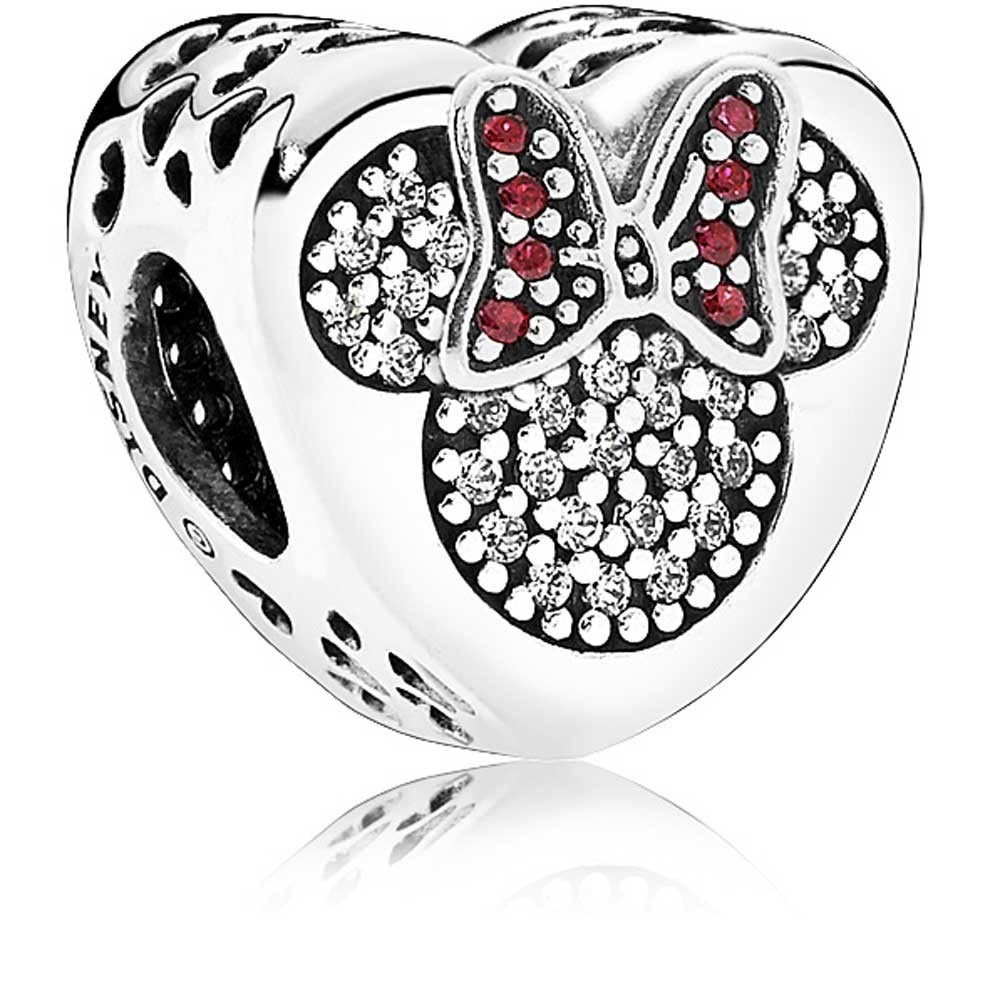 disney mickey and hearts pandora charm