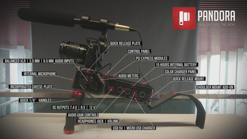 pandora cine dslr shoulder mount- estabilizador para video