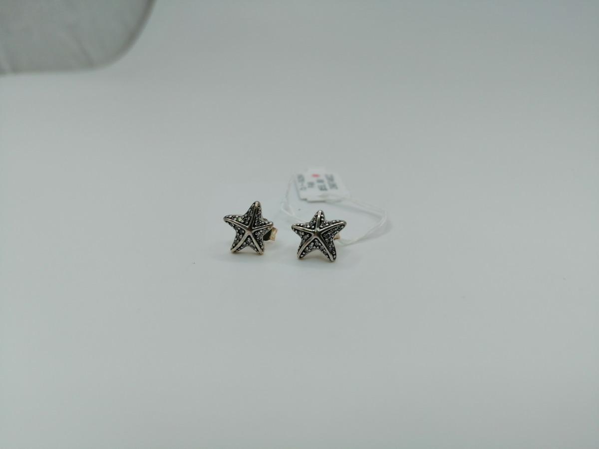 ef4caa0a83e6 Pandora Pendientes En Plata De Ley Estrella De Mar Tropical