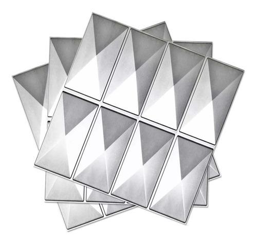 panel 3d decoración diamante largo plata 15317 / fernapet