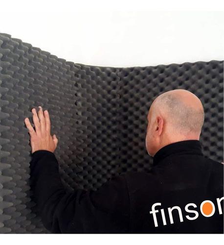 panel acústico finson color uniforme 25x25x2cm. envíos