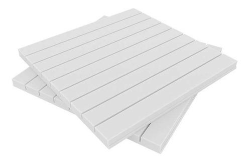 panel acústico premium ignífugo line 35mm espesor blanco