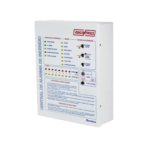panel alarma contra incendio 8 zonas vencontrols vc-8xpress